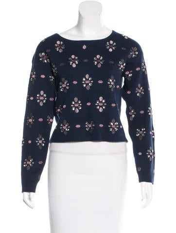 Opening Ceremony Embellished Bateau Neck Sweater w/ Tags None