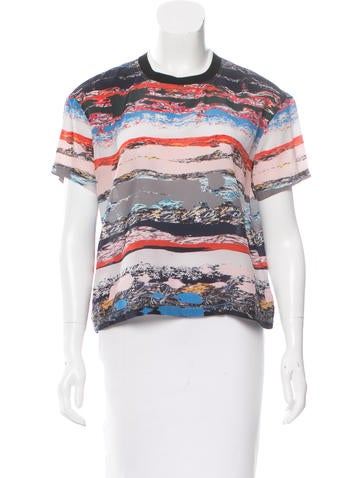 Opening Ceremony Silk Printed Top None
