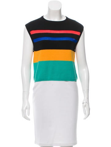 Opening Ceremony Striped Sleeveless Knit Top None