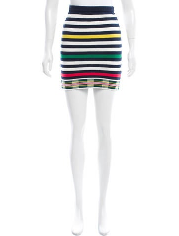 Opening Ceremony Striped Knit Skirt None