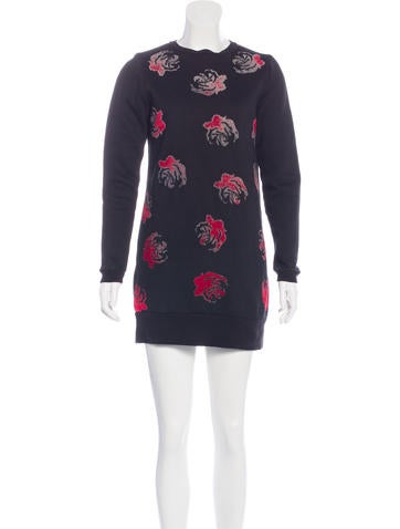 Opening Ceremony Floral Print Sweater Dress None