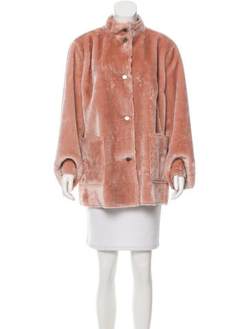 Opening Ceremony Reversible Faux Fur Jacket