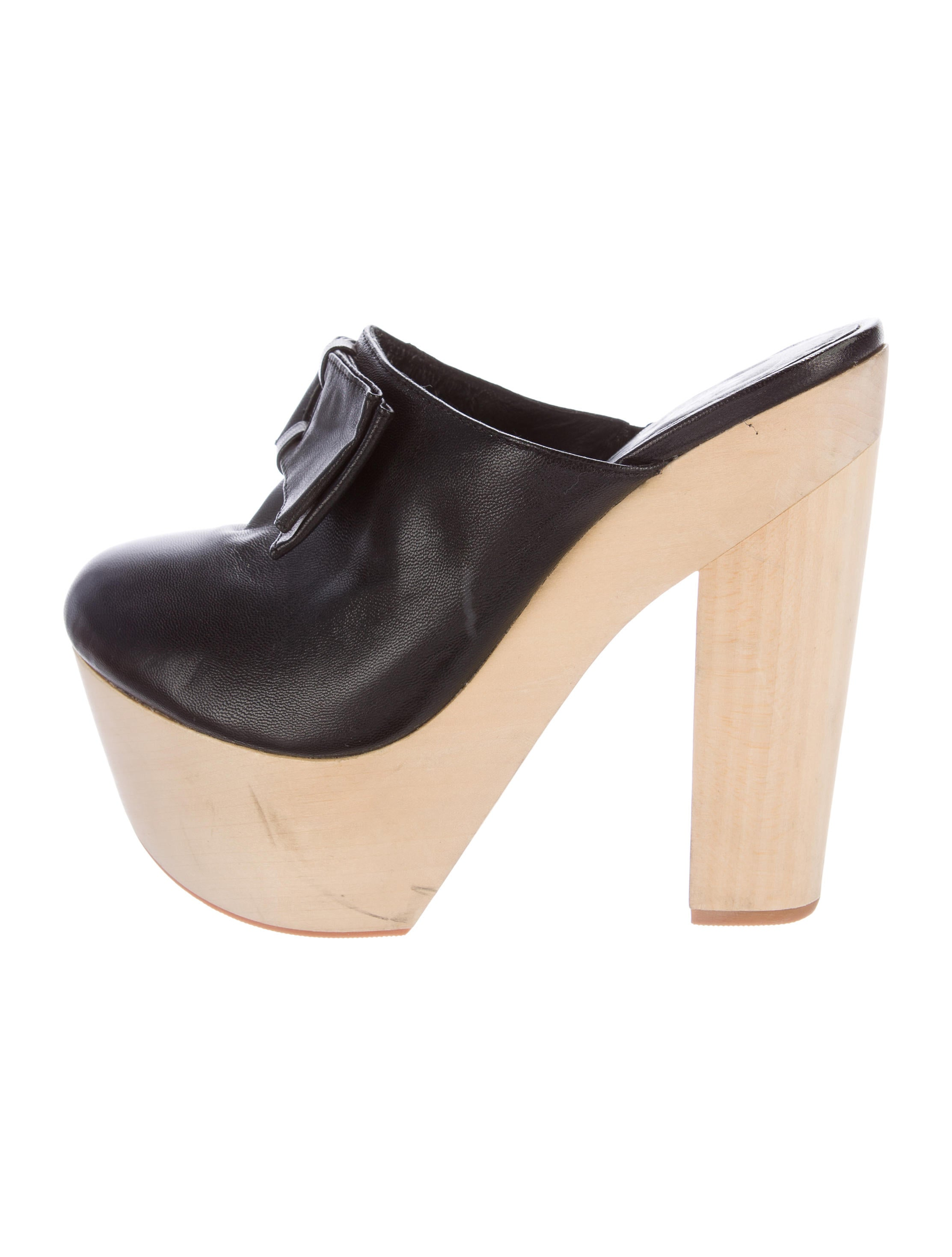 opening ceremony leather platform clogs shoes woc25571