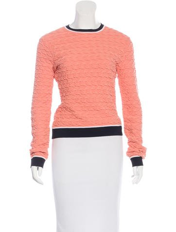 Opening Ceremony Textured Long Sleeve Top None