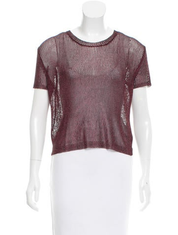 Opening Ceremony Metallic Open-Knit Top None