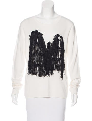 Opening Ceremony Fringe Wool-Blend Sweater None