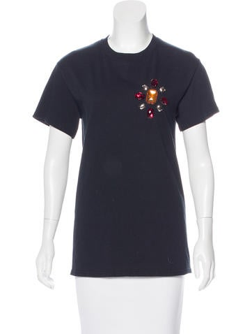 Opening Ceremony Beaded Short Sleeve T-Shirt None