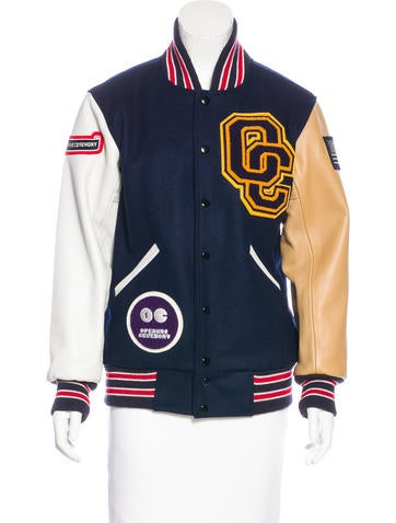 Opening Ceremony Wool & Leather Varsity Jacket None