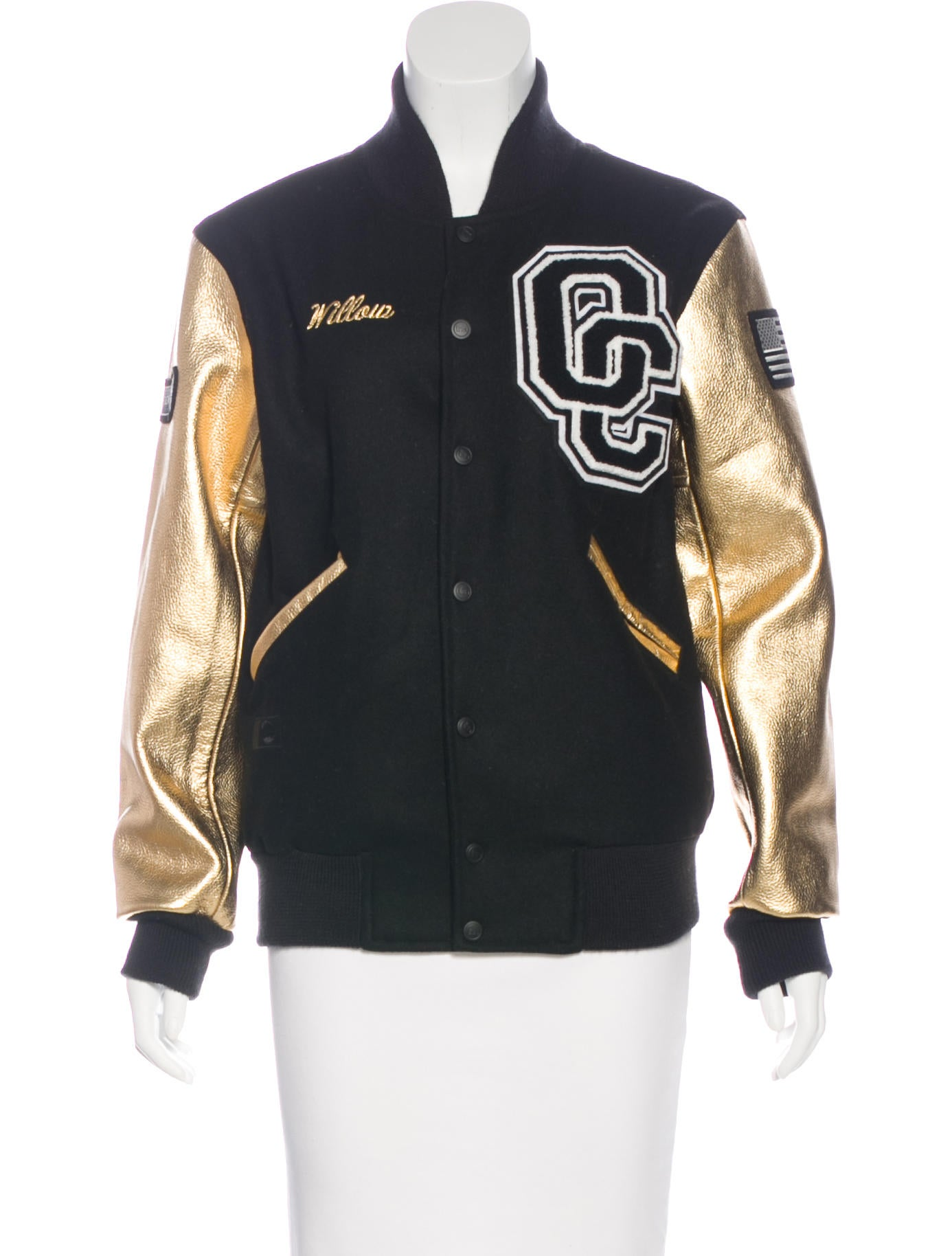 Wool leather varsity jackets