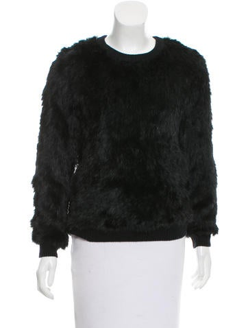 Opening Ceremony Rib Knit Fur Sweater None