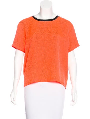 Opening Ceremony Textured Short Sleeve Top w/ Tags None
