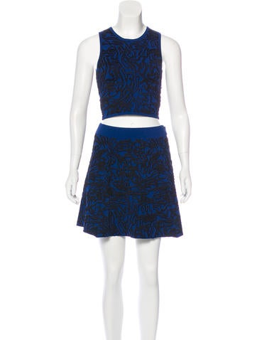 Opening Ceremony Jacquard Knit Skirt Set None