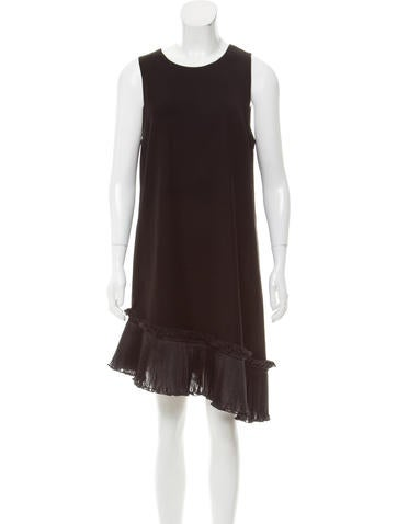 Opening Ceremony Stone Ruffle-Trimmed Dress w/ Tags None