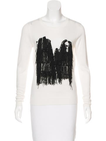 Opening Ceremony Wool-Blend Fringe Sweater None