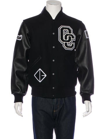 Opening Ceremony Leather-Trimmed Varsity Jacket w/ Tags None