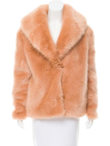 Opening Ceremony Faux Fur Rib Knit Jacket None