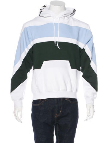 Opening Ceremony Striped Fleece Hoodie w/ Tags None