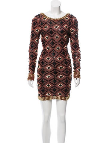 Opening Ceremony Embellished Linen Knit Dress None