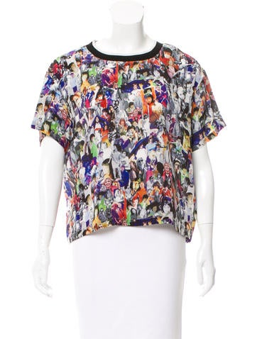 Opening Ceremony Silk Digital Print Top None