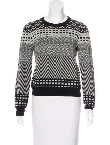 Opening Ceremony Abstract Print Wool Sweater None