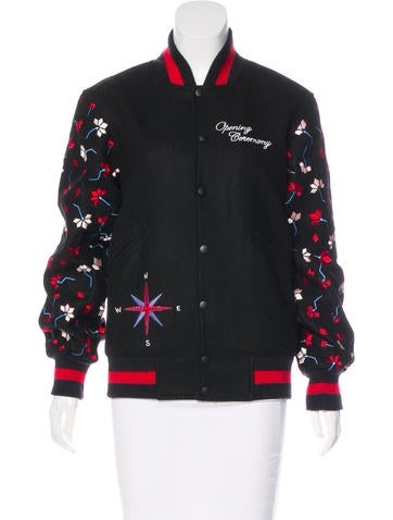 Opening Ceremony Embroidered Varsity Jacket w/ Tags None