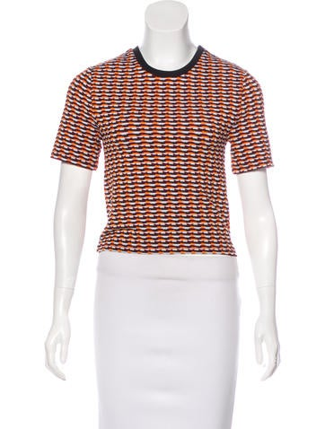 Opening Ceremony Patterned Short Sleeve Top None
