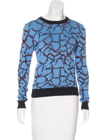 Opening Ceremony Long Sleeve Intarsia Sweater None