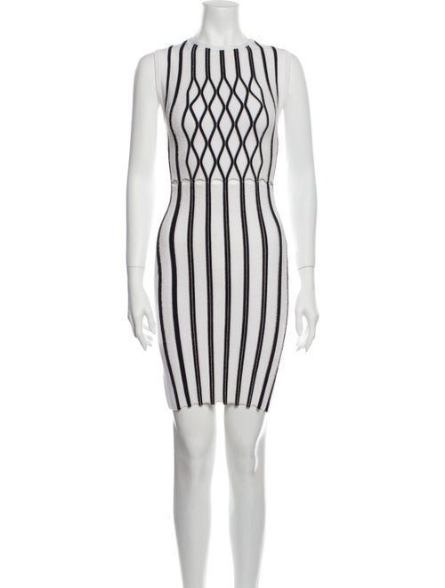 Opening Ceremony Striped Mini Dress White