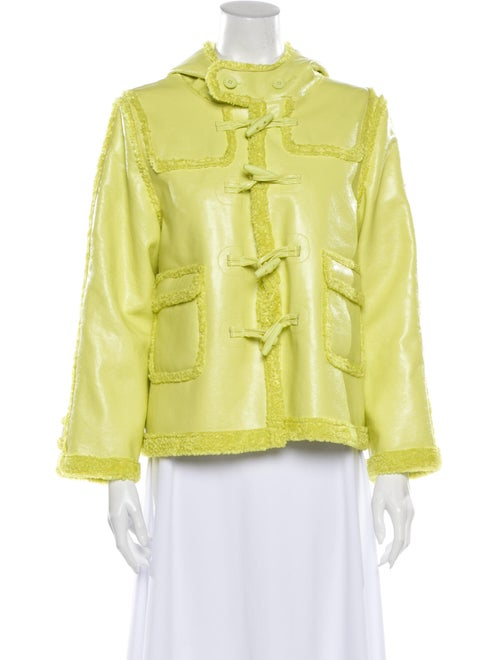 Opening Ceremony Leather Evening Jacket Green