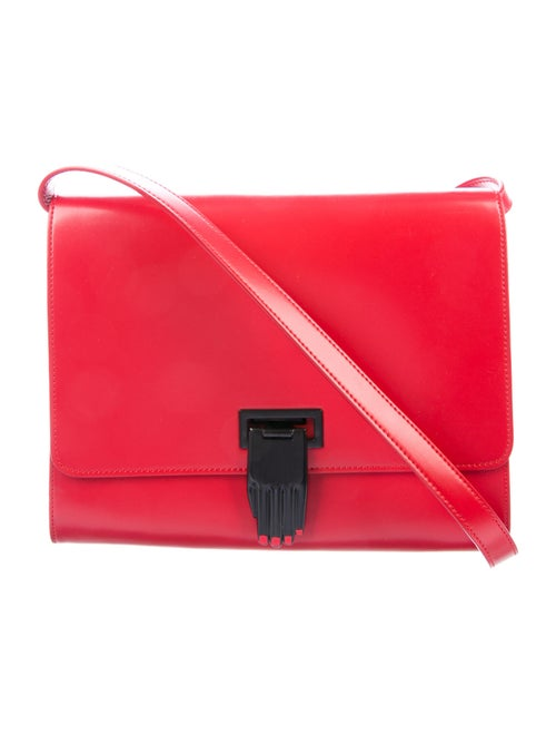 Opening Ceremony Leather Crossbody Bag Red