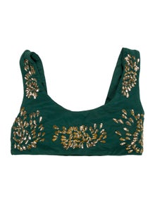 Oceanus Patterned Sequin Embellishments Top