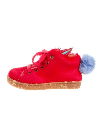 Ocra Boys' Pony Hair High-Top Sneakers w/ Tags