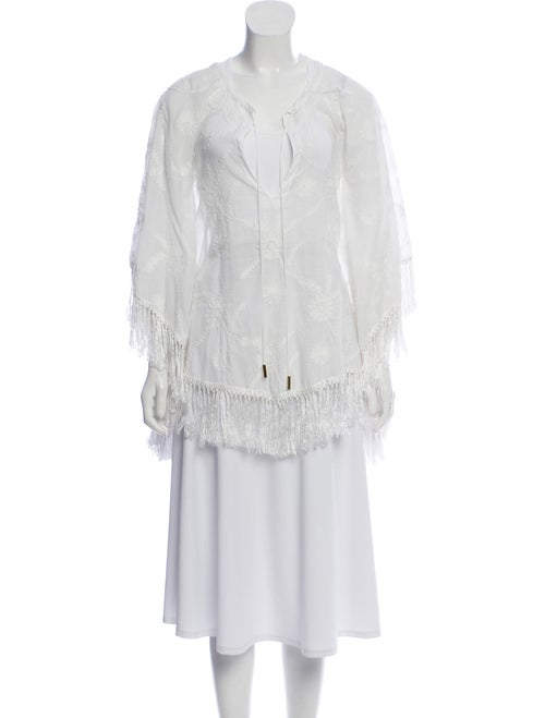 Melissa Odabash Crochet Embroidered Poncho w/ Tags