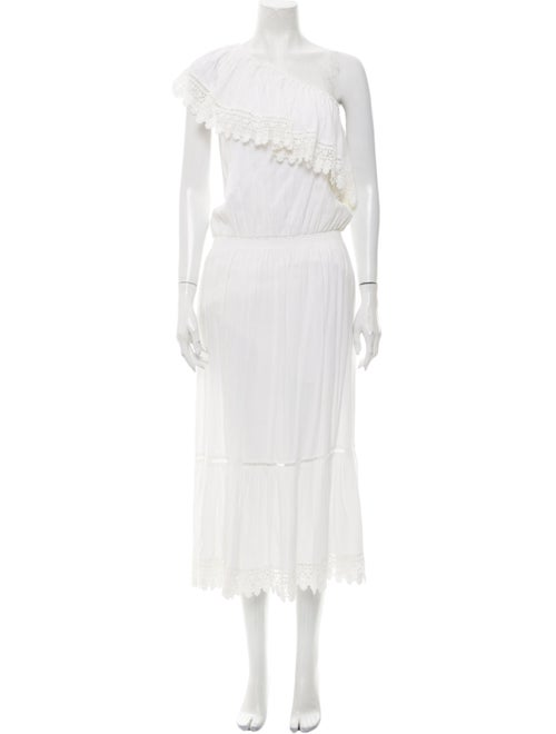 Melissa Odabash One-Shoulder Long Dress White