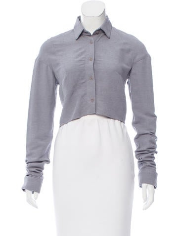 ODD Cropped Button-Up Top None