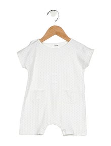 Oeuf Girls' Printed Short Sleeve All-In-One