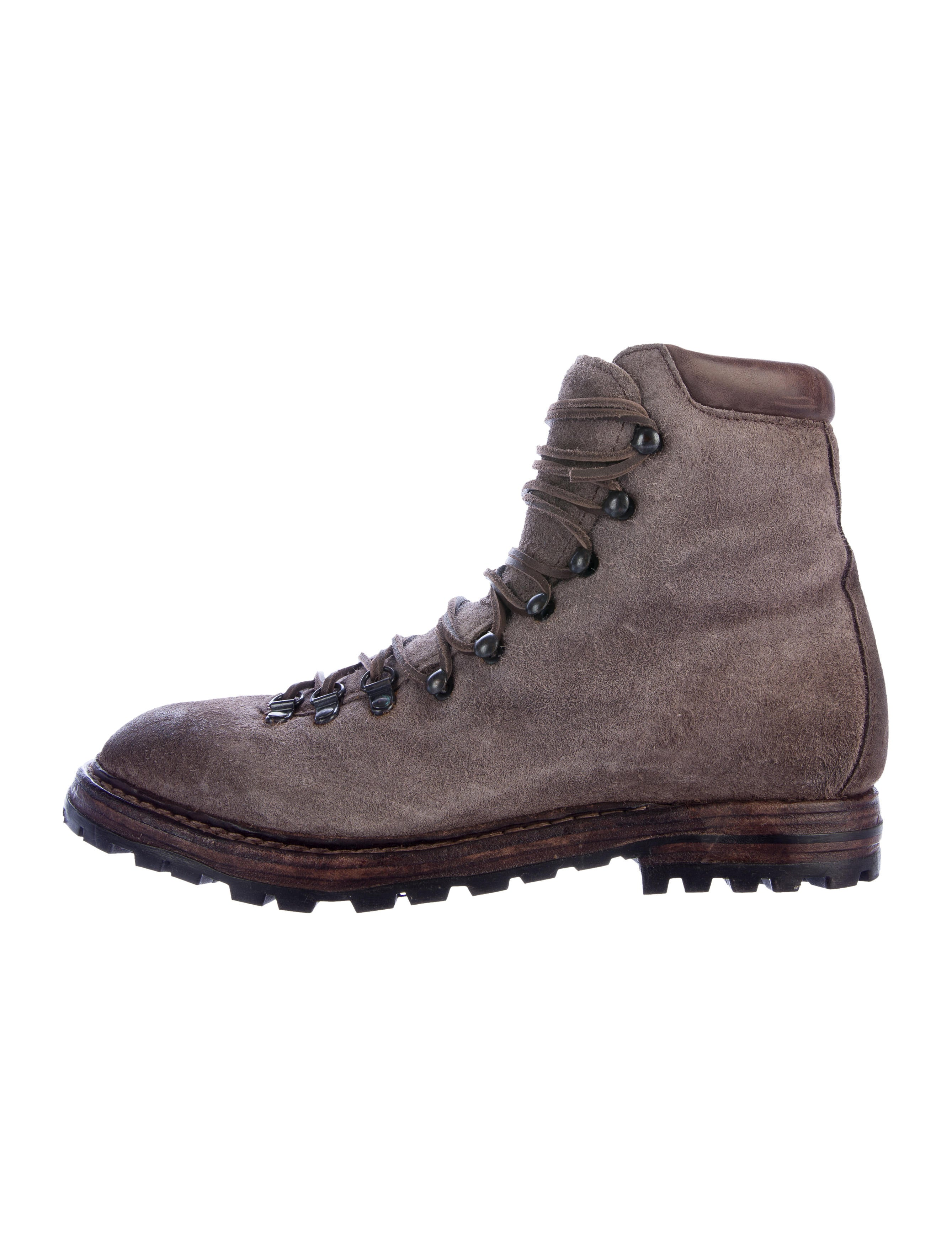 officine creative distressed suede hiking boots shoes