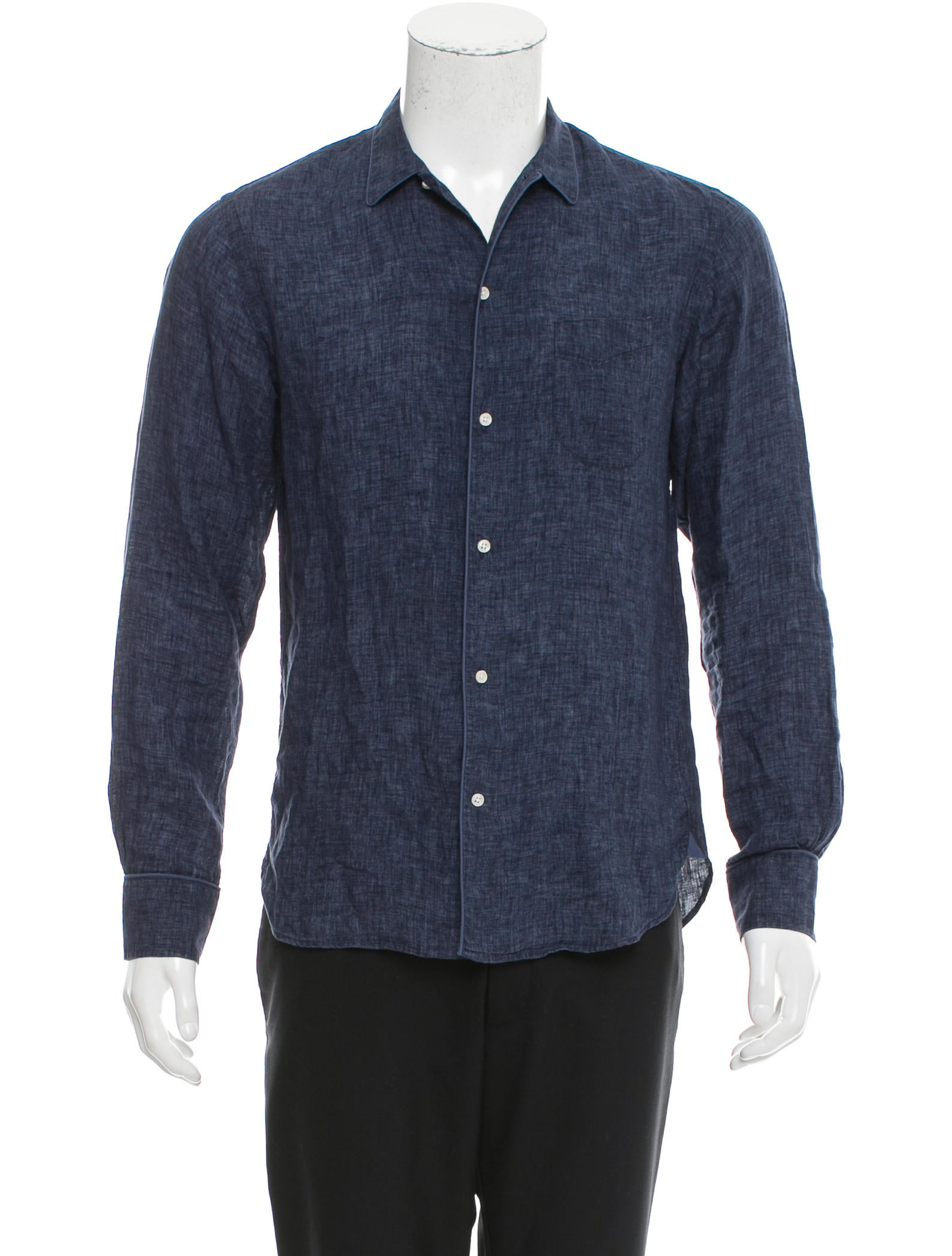 Officine Creative Long Sleeve Button Up Shirt Clothing