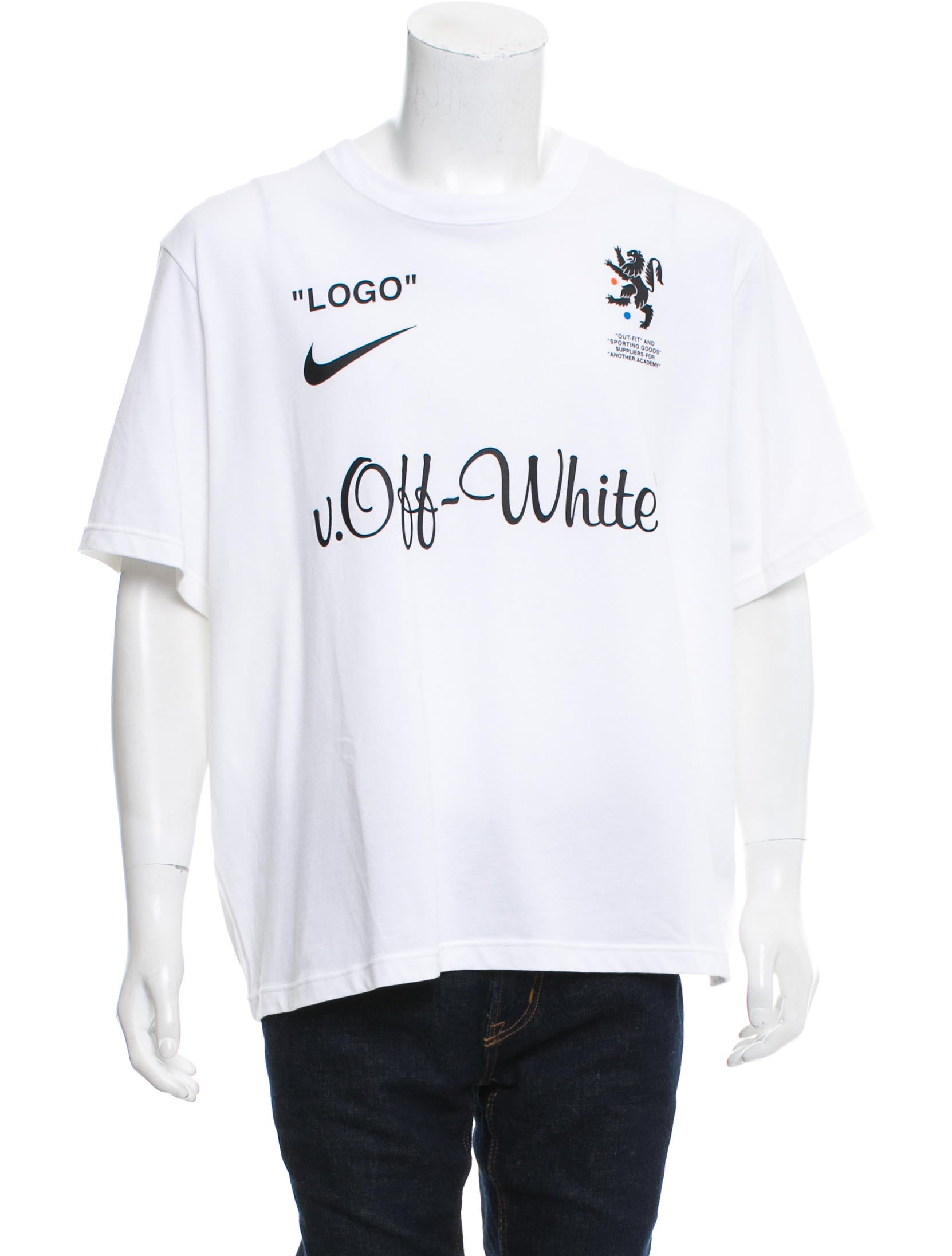 495a9626 ... 18SS FB JERSEY HOME AA3300 100 logo print home soccer jersey long  sleeves cut and sew Source · Off White x Nike 2018 Mercurial NRG T Shirt w  Tags ...
