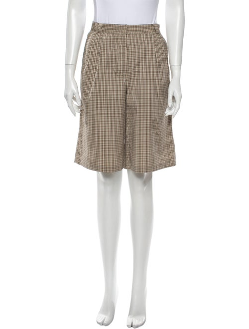 Occhii Plaid Print Knee-Length Shorts