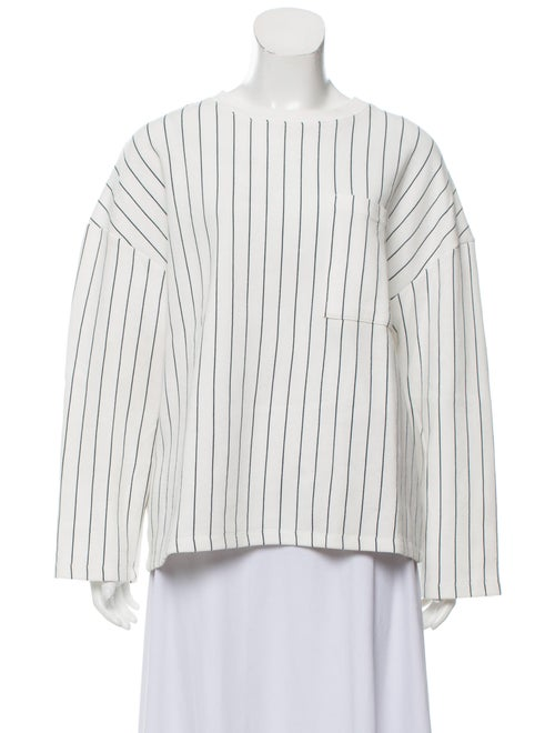 Oak + Fort Striped Pocket Sweatshirt black