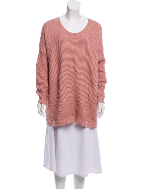 Oak + Fort Scoop Neck Sweater Pink