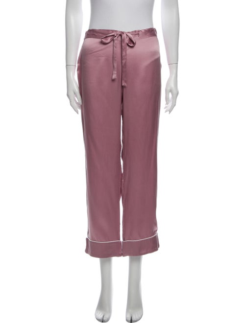 Olivia von Halle Silk Pajamas Purple