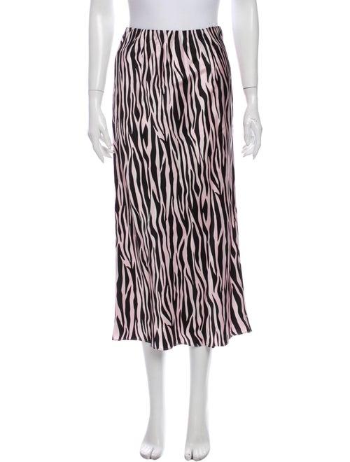 Olivia von Halle Silk Midi Length Skirt w/ Tags Pi