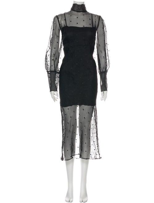 Olivia von Halle Silk Long Dress Black