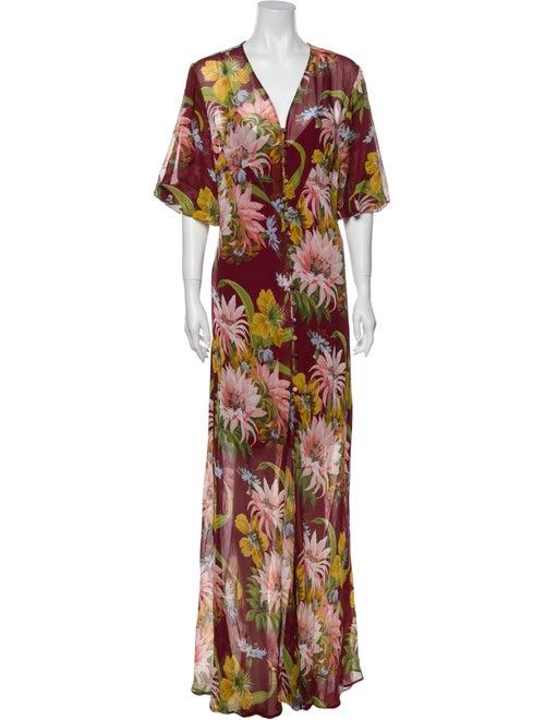 Olivia von Halle Silk Long Dress w/ Tags Red