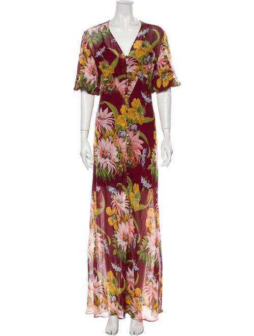 Olivia von Halle Silk Long Dress w/ Tags