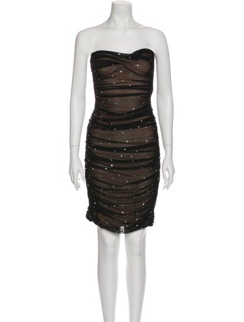 OMO Norma Kamali Strapless Mini Dress Black