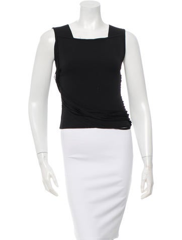 Ohne Titel Sleeveless Draped-Accented Top None