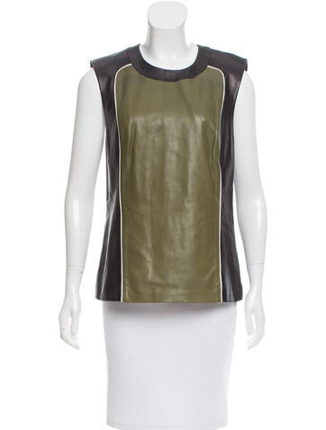 Ohne Titel Colorblock Leather Top None